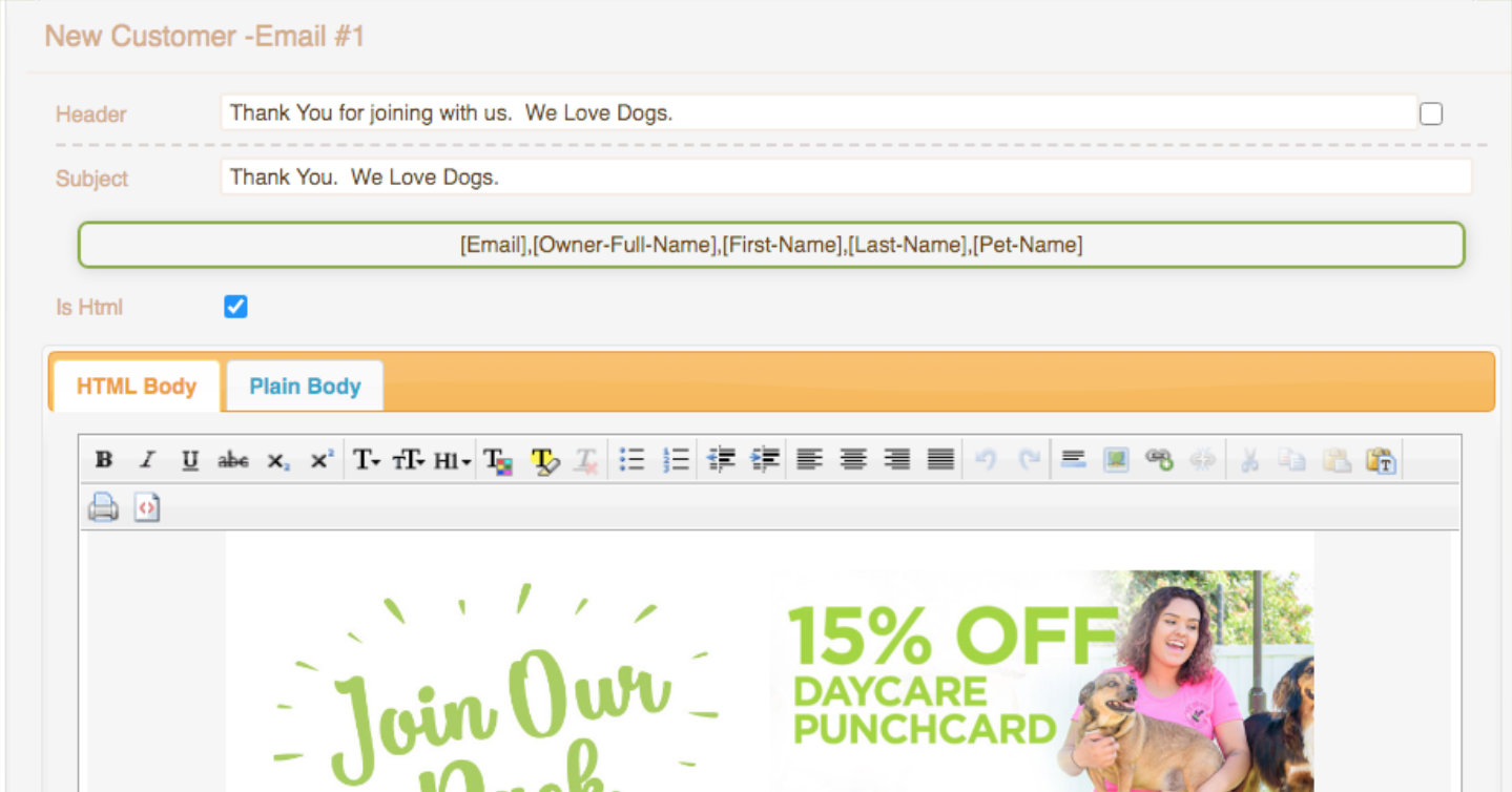 Paw Loyalty Daycare - Automated client communications