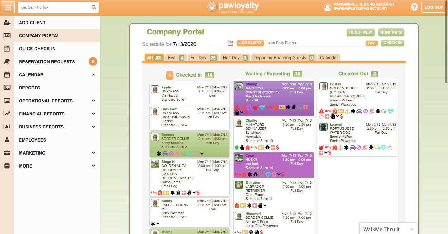 Paw Loyalty Daycare - Digital Dashboard